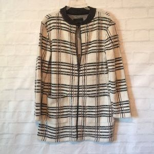 Sanctuary zip up knit long jacket cardigan sz xs